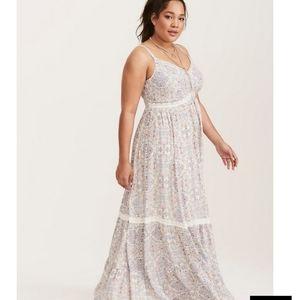 Torrid challis maxi dress size 2 brand new